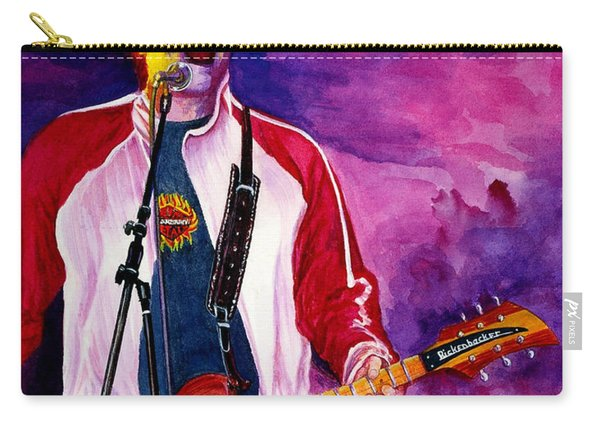Carry-all Pouch featuring the painting Rock On Tom by Nancy Cupp