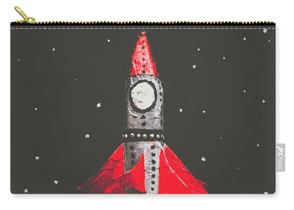 Rockets And Cartoon Puzzle Star Dust Carry-all Pouch