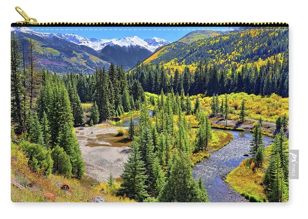 Rockies And Aspens - Colorful Colorado - Telluride Carry-all Pouch