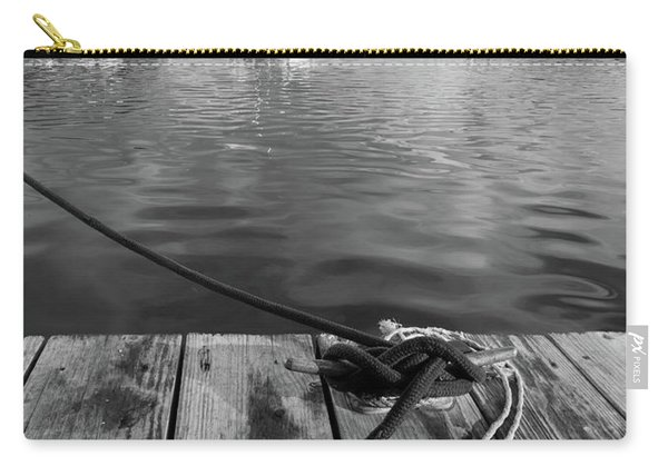 Rockport Harbor, Maine #80458-bw Carry-all Pouch