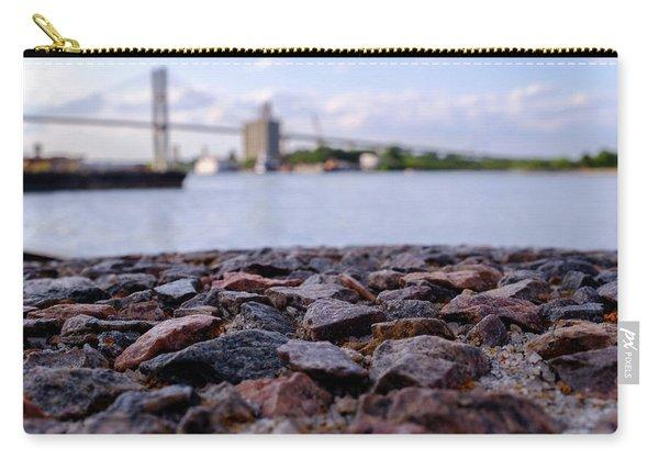 Rocks River And A Bridge In Savannah Georgia Carry-all Pouch