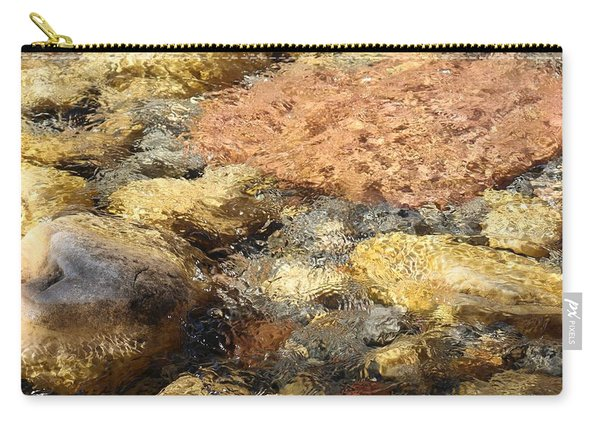 Carry-all Pouch featuring the photograph Rocks Through The Water  by Christy Pooschke