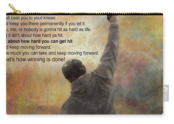 Rocky Balboa Inspirational Quote Carry-all Pouch