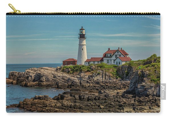 Rocky Coast At Portland Head Light Carry-all Pouch
