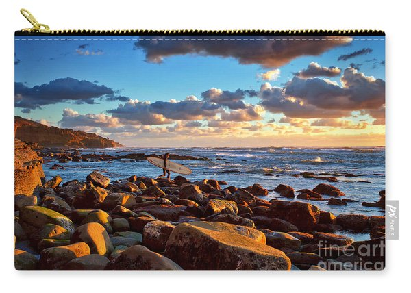 Carry-all Pouch featuring the photograph Rocky Surf Conditions by Sam Antonio Photography