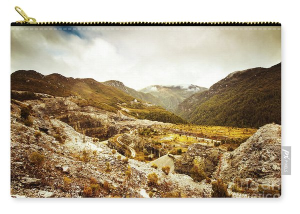 Rocky Valley Mountains Carry-all Pouch