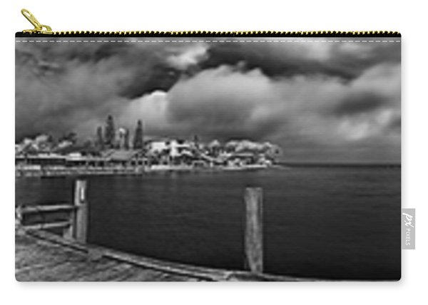 Rod And Reel Pier In Infrared Carry-all Pouch