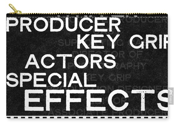 Roll Credits- Art By Linda Woods Carry-all Pouch