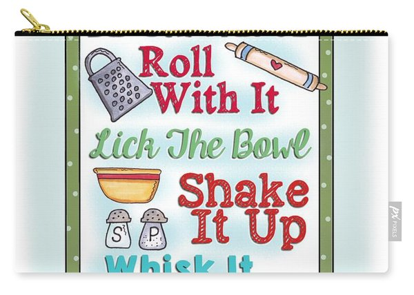 Roll With It Kitchen Print Carry-all Pouch
