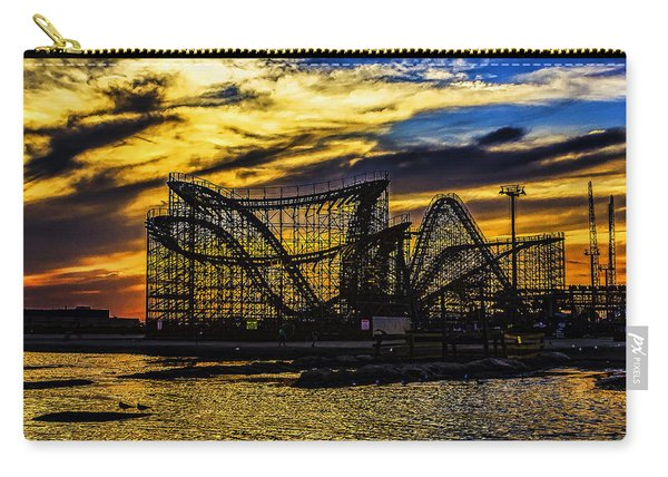 Roller Coaster Sunset Carry-all Pouch