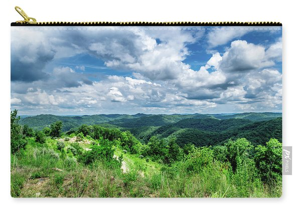 Rolling Hills And Puffy Clouds Carry-all Pouch