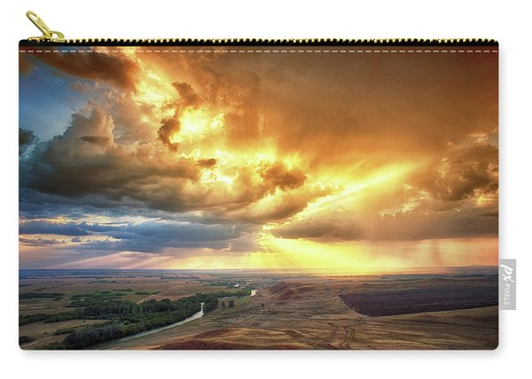 Rolling Rain Of Summer Sunset Carry-all Pouch