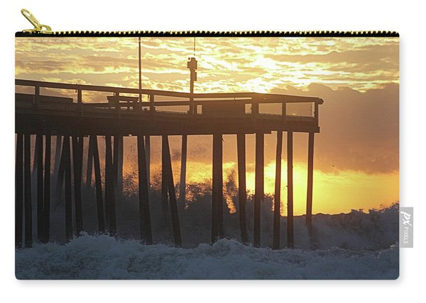 Rolling Waves At The Pier Carry-all Pouch