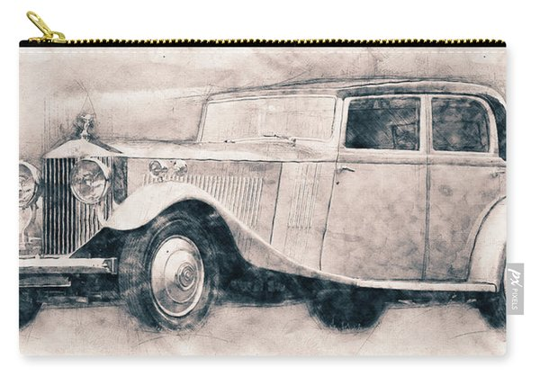 Rolls-royce Phantom - Luxury Car - 1925 - Automotive Art - Car Posters Carry-all Pouch