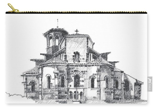 Roman Church At Chamalieres Carry-all Pouch