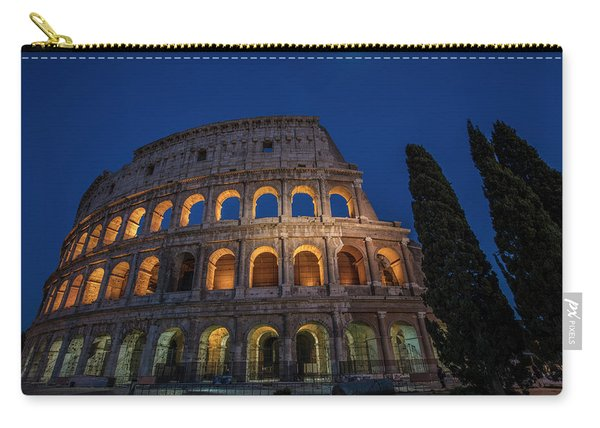 Roman Coliseum In The Evening  Carry-all Pouch