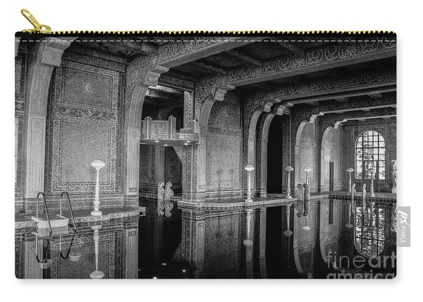 Roman Pool, Black And White Carry-all Pouch