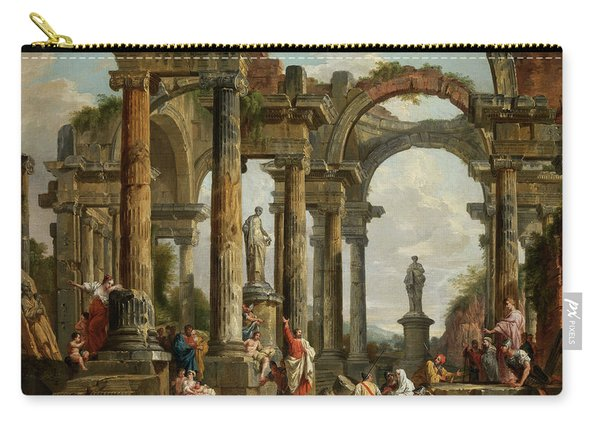 Roman Ruin Architecture With Predigendem St. Paul Carry-all Pouch
