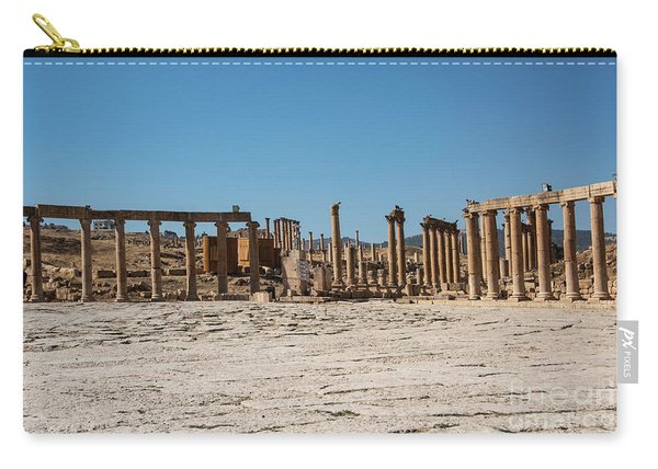 Carry-all Pouch featuring the photograph Roman Ruins At Ajloun by Mae Wertz