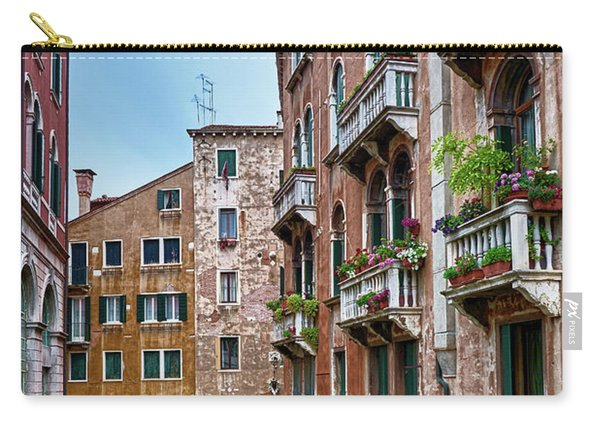 Gondola Ride Surrounded By Vintage Buildings In Venice, Italy Carry-all Pouch