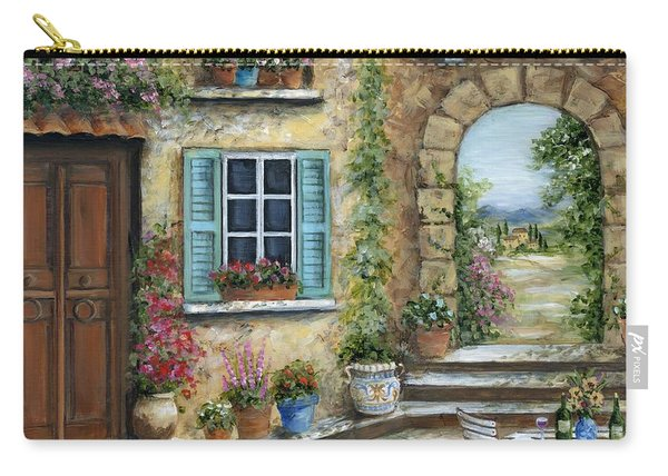 Romantic Tuscan Courtyard II Carry-all Pouch