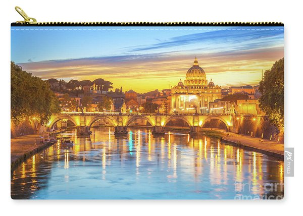 Carry-all Pouch featuring the photograph Rome At Twilight by Benny Marty