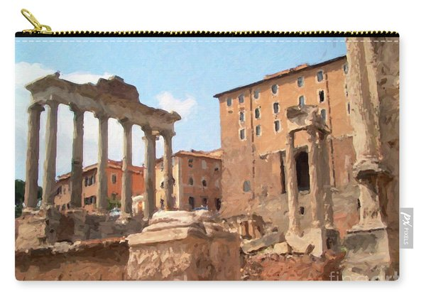 Rome The Eternal City And Temples Carry-all Pouch