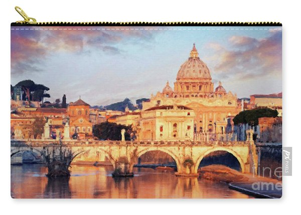 Rome The Eternal City - Saint Peter From The Tiber Carry-all Pouch