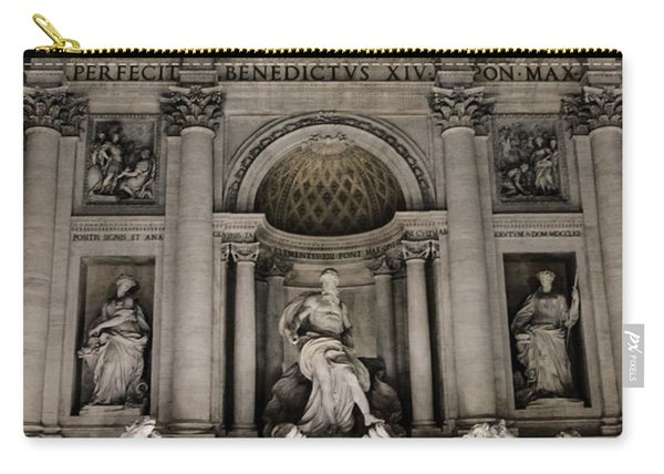 Rome - The Trevi Fountain At Night 3 Carry-all Pouch