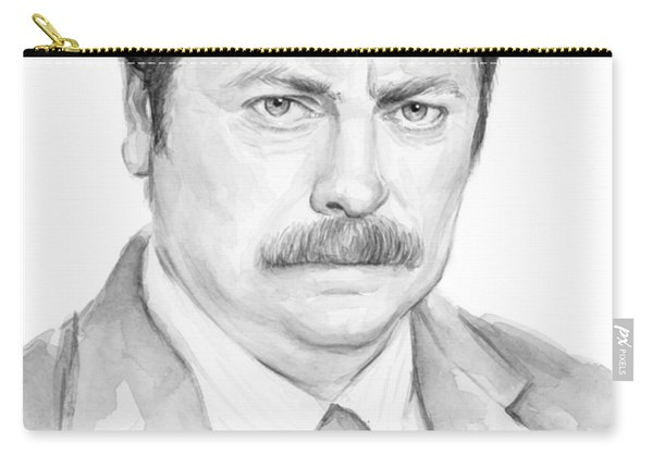 Ron Swanson  Carry-all Pouch