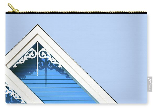 Rooftop Detail With Decorative Fretwork Carry-all Pouch