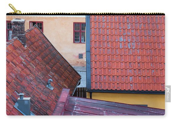 Rooftops Of The Swedish Town Visby Carry-all Pouch