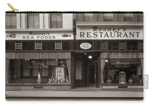 Rooney's Restaurant Wilkes Barre Pa 1940s Carry-all Pouch
