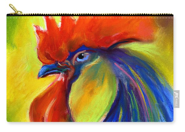 Rooster Painting Carry-all Pouch
