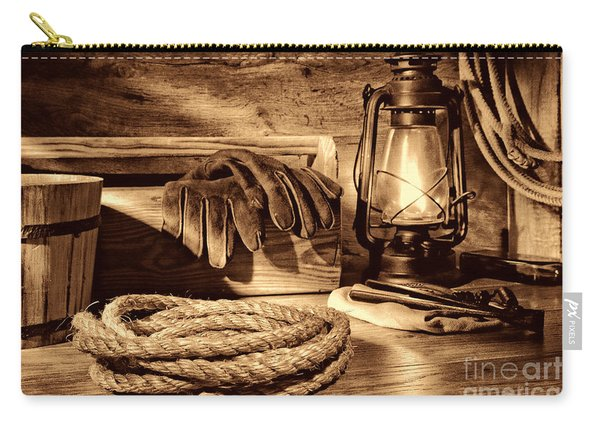 Rope And Tools In A Barn Carry-all Pouch