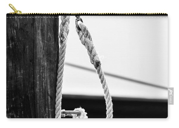 Rope Fence Fragment In Harbour Carry-all Pouch