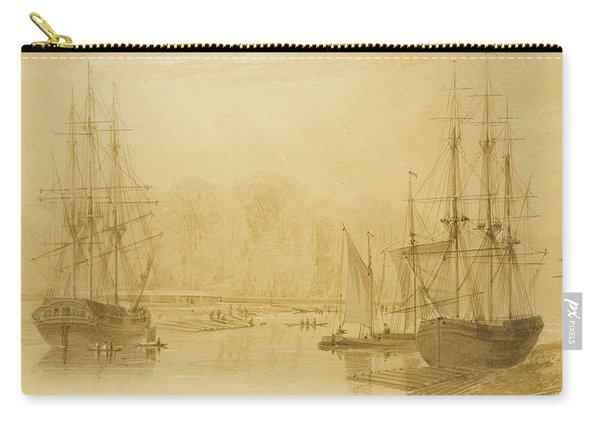 Ropewalk At Wapping, West Indiaman Union On Left, 1826  Carry-all Pouch