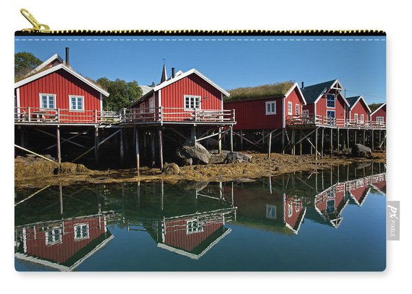 Rorbus And Reflections In Reine Carry-all Pouch