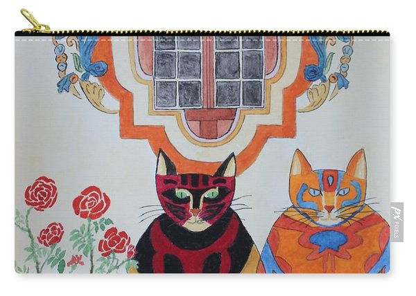 Rosa And Pedro Of The Rose Window Of Mission San Jose Carry-all Pouch