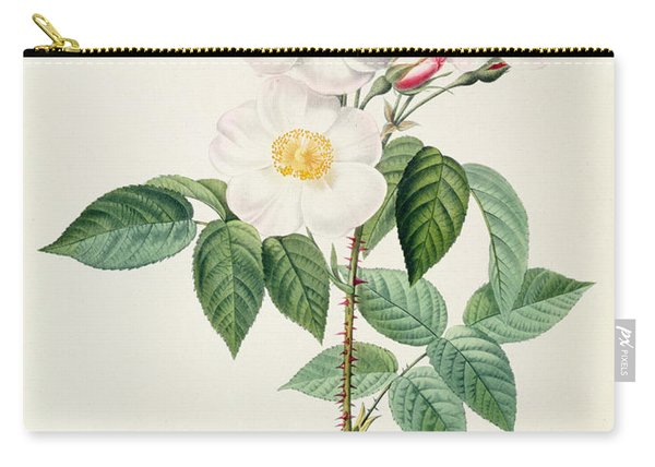 Rosa Damascena Subalba Carry-all Pouch