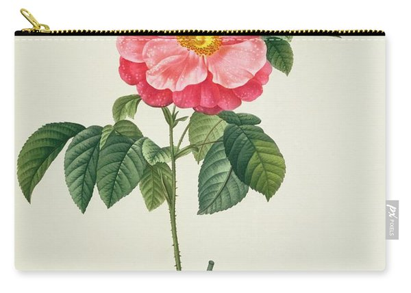 Rosa Gallica Flore Marmoreo Carry-all Pouch