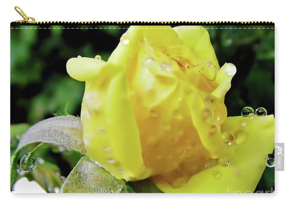 Rose Bud Dew Drops Carry-all Pouch