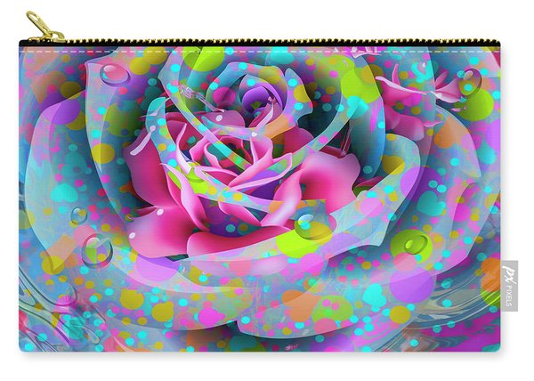 Carry-all Pouch featuring the digital art Rose by Eleni Mac Synodinos