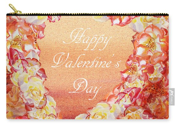 Rose Heart Of Valentine Carry-all Pouch