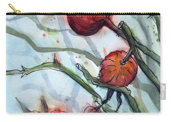 Rose Hips Abstract  Carry-all Pouch