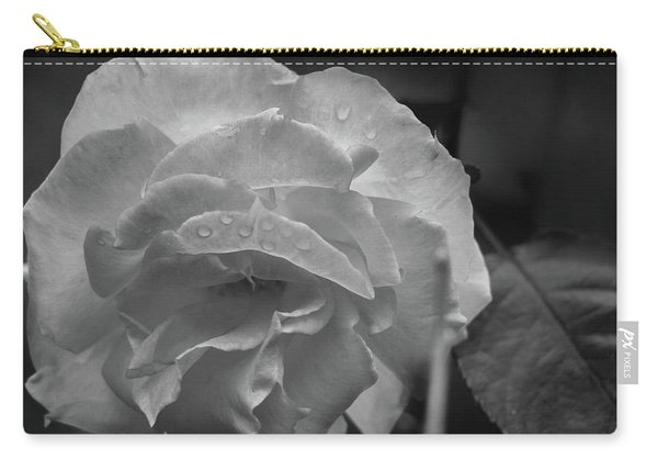 Rose In Black And White Carry-all Pouch