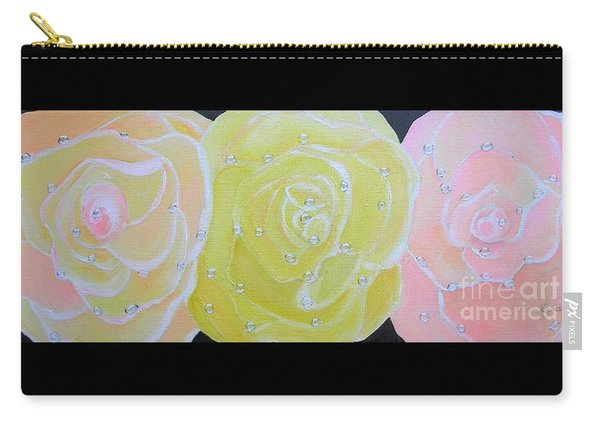 Rose Medley With Dewdrops Carry-all Pouch