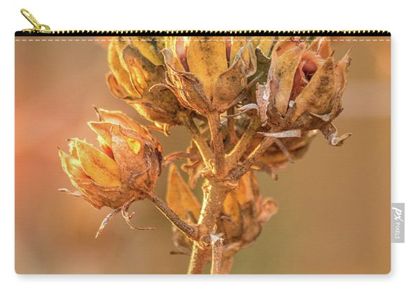 Carry-all Pouch featuring the photograph Rose Of Sharon In Winter by Allin Sorenson