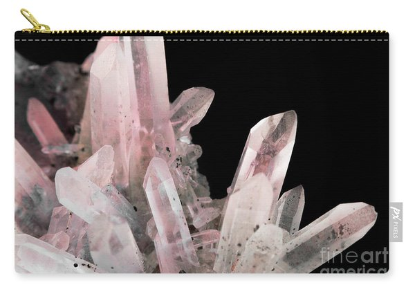 Rose Quartz Crystals Carry-all Pouch