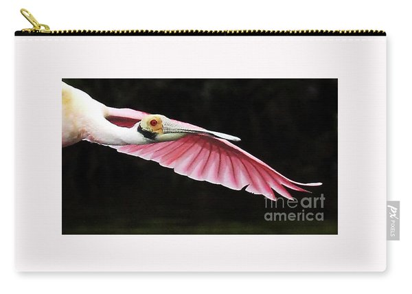 Roseate Spoonbill In Flight Carry-all Pouch